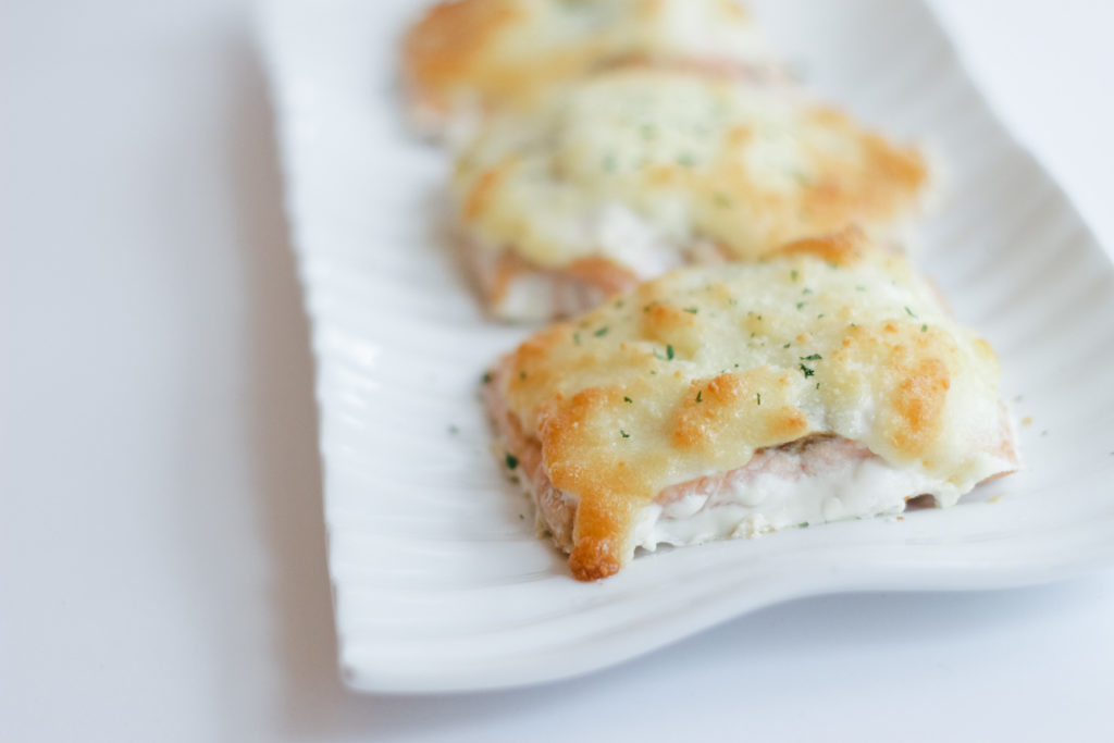 Parmesan crusted salmon recipe michelle amanda wilson for Parmesan crusted fish